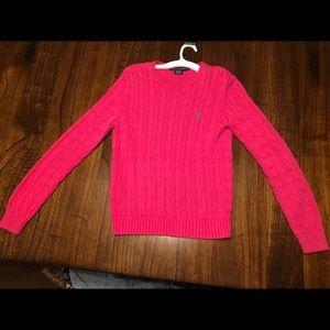 Polo Ralph Lauren Hot Pink Crew Sweater